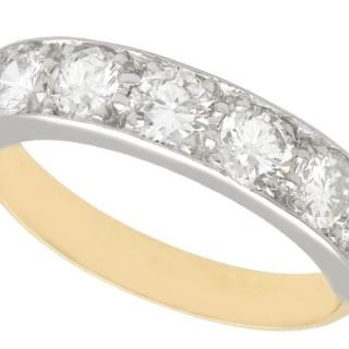 1.60 ct Diamond, 18 ct Yellow Gold Seven Stone Ring - Vintage Circa 1980