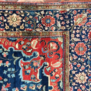 Antique Kurk Kashan rug