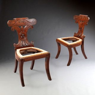 A Pair Of Regency Hall Chairs