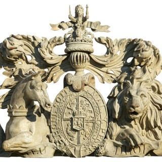 A monumental royal coat of arms by John Steell
