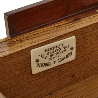 Parquetry inlaid and gilt bronze mounted writing desk by Edwards & Roberts