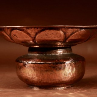 A Copper Hammered Spittoon 19th century.