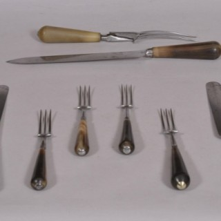 Antique 19th Century Set of Table Knives and Forks