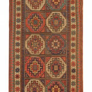 Rare Antique Caucasian Kazak Rug
