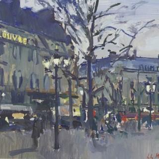 'Hôtel du Louvre, Dusk' by Luke Martineau (born 1970)