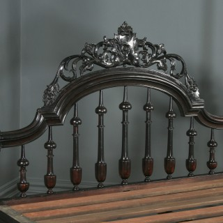 "Antique 5ft 8"" Victorian Anglo-Indian Colonial Raj King Size Four Poster Bed (Circa 1880)"
