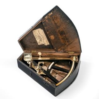 Ebony and brass navigational octant