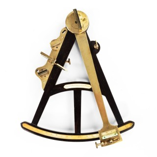 Ebony and brass navigational octant