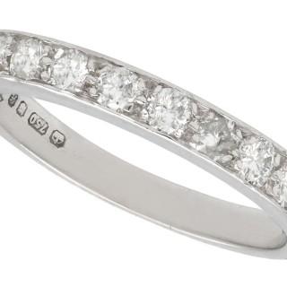 0.45 ct Diamond 18 ct White Gold Half Eternity Ring - Vintage Circa 1960