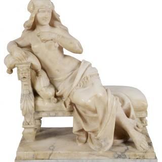 19th Century Alabaster Arab Girl, 22.5
