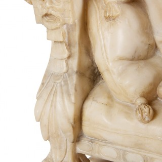 19th Century Alabaster Arab Girl, 22.5