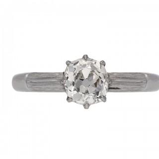 Solitaire diamond ring, circa 1920.