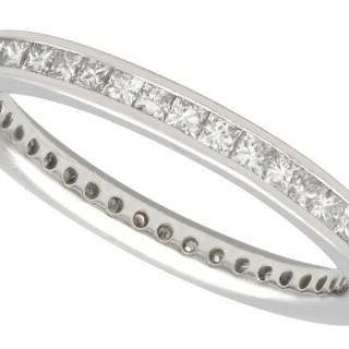 0.80 ct Diamond and Platinum Full Eternity Ring - Vintage Circa 1960