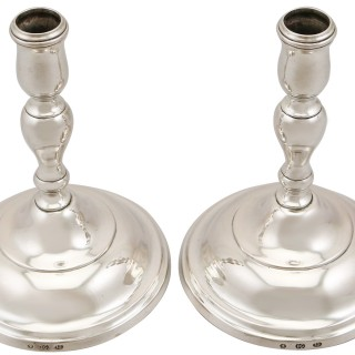 Baltic Silver Candlesticks - Antique Circa 1830