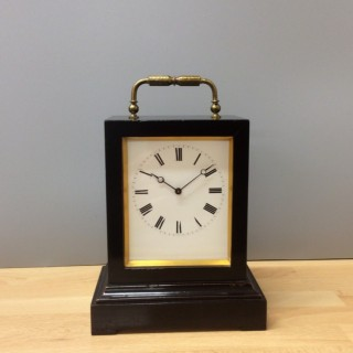 French Ebonised Carriage / Mantel Clock by Victor, Anathase Pierret