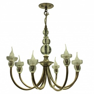 A FRENCH MID-CENTURY SILVER CHANDELIER