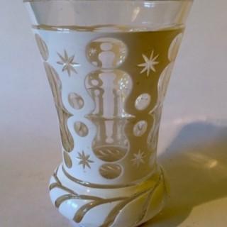 Bohemian white cased beaker
