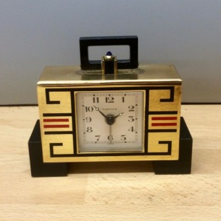 Cartier  Art Deco Travel / Alarm Clcok
