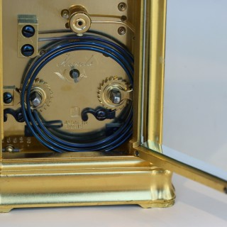 Striking repeating Gorge carriage clock by Jacot