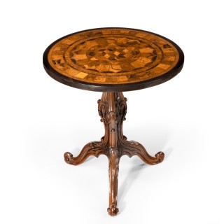A pair of Anglo-Indian specimen top occasional tables
