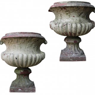 A Pair of Antique Terracotta Garden Urns