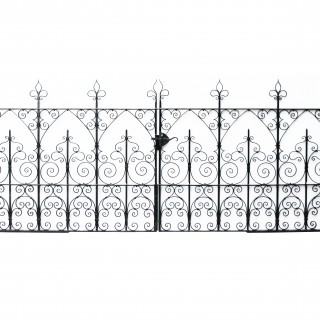 A Set of Reclaimed Wrought Iron Driveway Gates 396 cm (13 ft)