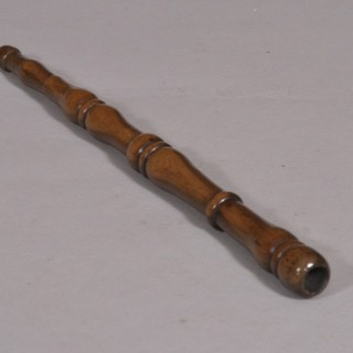Antique Treen 19th Century Yew Wood Spindle Knitting Sheath