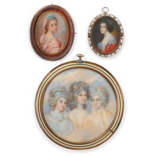 Three English portrait miniatures on ivory