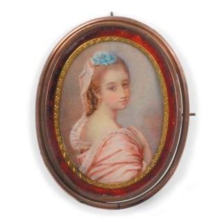 Three English portrait miniatures on ivory