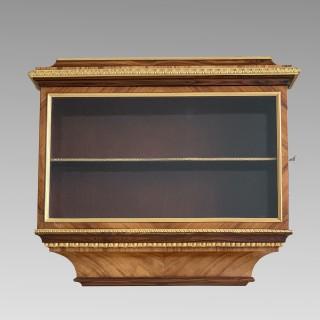 Napoleon III Kingwood & Ormolu Wall Cabinet