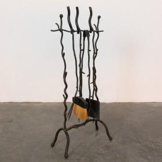 Rustic Wrought Iron Set Of Firetools
