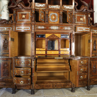An important Orientalist exhibition cabinet, 1860