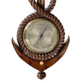 Large Victorian Mahogany barometer by John Gray