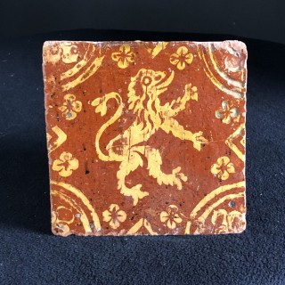 16th Century Lion Rampant Tile