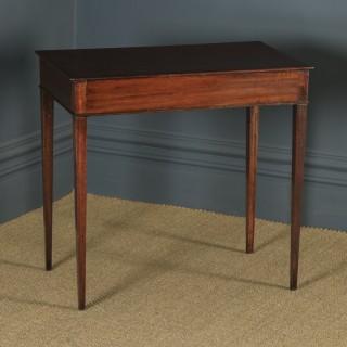 Antique English 19th Century Georgian Mahogany Occasional Side Hall Writing Table (Circa 1790)