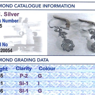 1.42 ct Diamond and Platinum Drop Earrings - Antique Circa 1920