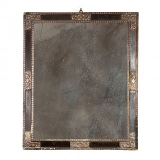 17th Century Spanish Silvered Frame Mirror