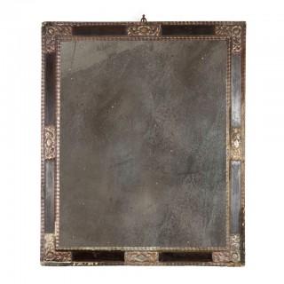17th Century Spanish Silvered Frame Mirror
