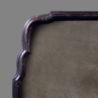 Pair of Queen Anne Style Ebony Pier Mirrors