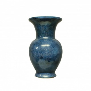 A LARGE & IMPRESSIVE BLUE GROUND CERAMIC VASE