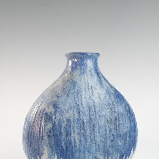 Blue medium onion shaped vase by Marcello Fantoni