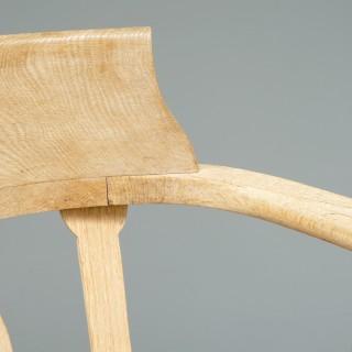 6 Oak Armchairs