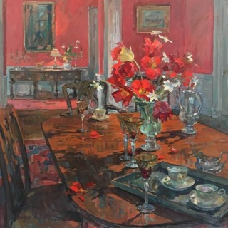 Table in the Red Dining Room