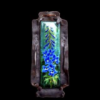 A rare Bromsgrove Guild arts and crafts enamel plaque