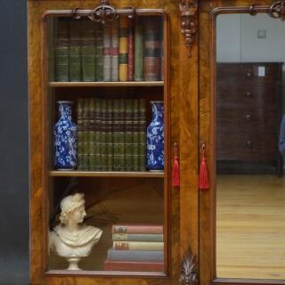 Superb Victorian Walnut Breakfronted Bookcase