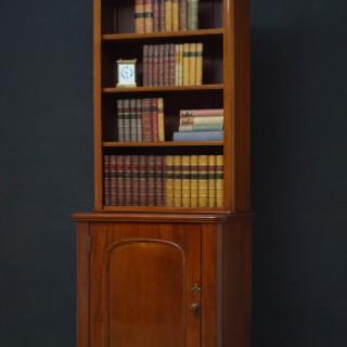 Slim Victorian Mahogany Bookcase