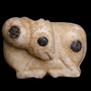 Uruk Ram Figurine in Alabaster