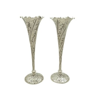 Pair of Antique Victorian Sterling Silver 9 1/2