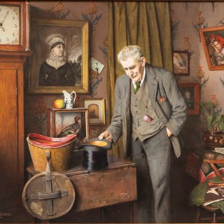 'His Old Wedding Hat' by Charles Spencelayh