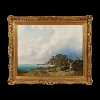 A View over the Bristol Channel from near Dunster Castle By Eugen Krüger